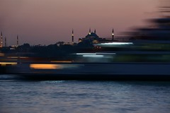 1,6 seconds vs 1,600 years (suhacinemre) Tags: longexposure ferry movement hagiasophia ayasofya night bosphorus harem history
