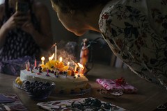 18 (Ella_likes_rain) Tags: birthday cake candles wish party mood
