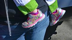 Baby Steppers (BKHagar *Kim*) Tags: bkhagar shoe shoes kid child girl feet foot pink white green mardigras nola neworleans parade street festival carnival napoleon day outdoor okeanos heart hearts