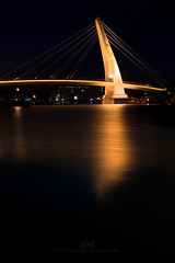 Golden bridge (agapicture) Tags: taiwan taipei water travel bridge boat sky sunset