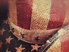 Rodeo Americana (amarilloladi) Tags: iphoneography iphone rodeo americanflag redwhiteandblue cowboyhat