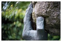 Lifting the stone _ 2 (leo.roos) Tags: sculpture beeld hands handen brons bronze swirly a7s maashorst brabant noordbrabant lensbabytwistoptic6025 lensbabycontrolfreak lensbabys lensbabies darosa leoroos