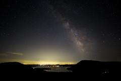 Lago di Vico (VT) (Willycaster) Tags: skybynight nightscape stars galaxy milkyway vialattea lagodivico viterbo roma notte notturno cielo stellato stelle panorama italia galassia paesaggio