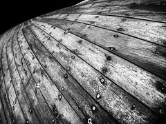 Carvel Hull (real ramona) Tags: boat hull timber wooden marine rivets carvel
