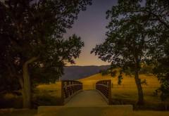 Round Valley bridge at night (Marc Crumpler (Ilikethenight)) Tags: landscape california sfbayarea eastbay contracostacounty eastbayregionalparkdistrict ebparksok ebrpd marccrumpler night bridge stars trees hiking hills nightshot canon canon6d 6d rokinon24mmf14