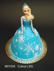 M01535 (merrittsbakery) Tags: cake shaped doll barbie disney frozen movie toy