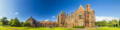 20160817_F0001: Kelham Hall panorama (wfxue) Tags: kelhamhall kelham building architecture house mansion tower dome helicopter car garden park grass trees lawn sky clouds longexposure panorama