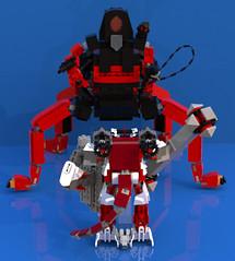 Lavaria vs Macy 2 - small (DraikNova) Tags: mecha mech lavaria nexoknights nexo legonexoknights lego moc lava demon beetle mace macy ldd legodigitaldesigner