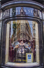 How Much is that Butterfly Costume-thingy in the Window? (Paul B0udreau) Tags: victoriassecret london uk reflection store street building nikkor1855mm photoshopcc canada ontario paulboudreauphotography niagara d5100 nikon nikond5100 raw