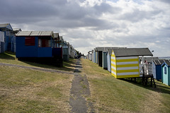 Huts on a hill (jamiethompson01) Tags: whitstable beach uk unitedkingdom august sony a7 zeiss 55mm 18f oysters