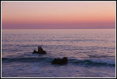 Crpuscule sur la plage de l'Herbaudire (Les photos de LN) Tags: crpuscule couleurs lumire ros ocanatlantique iledenoirmoutier vende paysage rochers