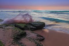 MonaVale-Beach-Movement-101 (gavcam) Tags: sky art bay beach color colour cove daybreak early goldenhour goldenlight natural nature reflection shore sea pacific nsw sydney seashore sunrise sunup warm norhernbeaches monavale australia sand rocks waves
