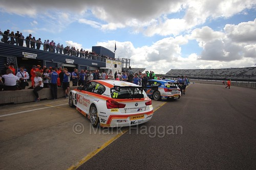 In the pit lane at Rockingham, August 2016