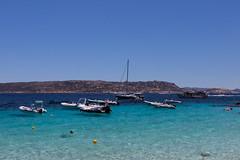 Arcipelago della Maddalena (Ste.Zani) Tags: barca paesaggio spiaggia mare costa acqua baia maddalena sardegna water sun azzurro