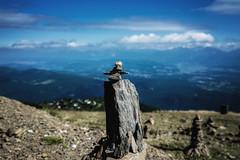 Go this way... (blatnik_michael) Tags: fuji fujinon gerlitze berg mountain summer sommer steinmandl wegweiser oben outdoor xf1024 xe2 tal