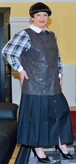 Birgit022813 (Birgit Bach) Tags: pleatedskirt faltenrock buttonthrough durchgeknpft waistcoat weste blouse bluse
