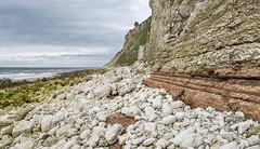 Geology on the Yorkshire coast (Keartona) Tags: yorkshire coast landscape seascape shore england english september sea coastline cliffs geology rocks rock strata chalk beach