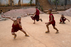 Monks at Play (Jeff Williams 03) Tags: monks novices myanmar shan state burma fun play games buddhism temple