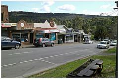 McBride Street, the main street in Cockatoo, Dandenong Ranges, Victoria. (fotograf1v2) Tags: cockatoo dandenongranges victoria australia springtime australianruraltown bushlandtown mountaintownship cardiniashire mainstreet streetscape shoppingcentre hills forest bushland shops