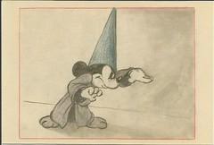 Fantasia Sorcerers Apprentice (LillieBuggy) Tags: postcard art diney mickey fantasia