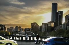 Melbourne Sunset (Nick Pemberton) Tags: melbourne sky sunset australia taxi walk drive bridge