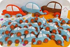 Carrinhos (Casinha de Pano) Tags: handmade felt carro enfeites feltro fusca chaveiro lembrancinhas