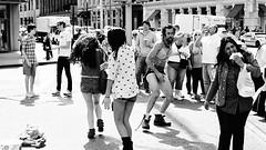Astor Place. (Davide Filippini ) Tags: street nyc newyorkcity people blackandwhite bw usa newyork blancoynegro monochrome america blackwhite pessoas unitedstates gente noiretblanc streetphotography bn menschen personas persone astorplace personnes biancoenero     blancetnoir    negroyblanco    greenstreets  davidefilippini    nikkorafs35mmf18g nikond5000  astorplacegreenstreets