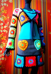 Granny Square Bolero And Granny Square Skirt (babukatorium) Tags: pink blue red orange black flower color green art love wool fashion yellow felted vintage woodland circle square grey sweater rainbow colorful warm purple heart recycled handmade mosaic turquoise teal burgundy oneofakind crochet moda peach violet style felt retro used bow button hippie ribbon patchwork psychedelic applique tulle remake embellished cardigan bohemian multicolor shrug whimsical renew darkblue bolero haken häkeln emeraldgreen crochê grannysquares ganchillo royalblue fuxia upcycled uncinetto handdecorated かぎ針編み coprispalle tığişi horgolt uvgreen babukatorium