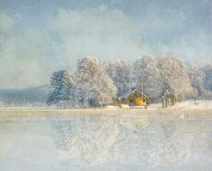 Winter in the country-2 (Bessula) Tags: winter house snow reflection tree texture nature water fleurs landscape frost sweden country et paysages deepavali tistheseason photomix supershot bessula tatot bestcapturesaoi magicunicornmasterpiece rememberthatmomentlevel1 flickrsfinestimages1 flickrsfinestimages2 flickrsfinestimages3 rememberthatmomentlevel2 rememberthatmomentlevel3 bestevercompetitiongroup creativephotocafe besteverdigitalphotography besteverexcellencegallery