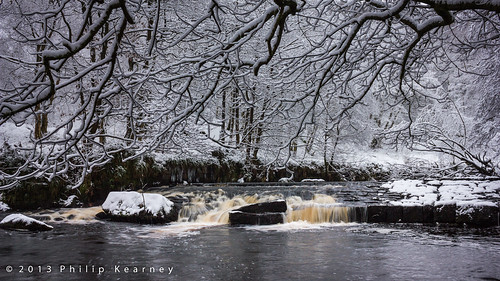 Hebden Water in snow