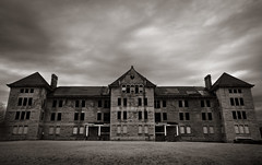 Illinois Asylum for the Incurable Insane (Rodney Harvey) Tags: blackandwhite death illinois insane eerie haunted creepy spooky scifi infrared disturbing asylum sorrow peoria disease illness mental outbre
