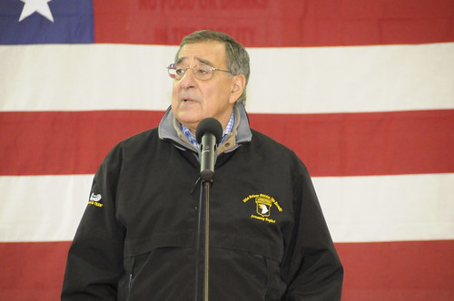 U.S. Secretary of Defense Leon Panetta visits Caserma Ederle