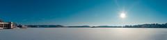 Saltsjöbaden (MikeHarnetty) Tags: ocean blue trees winter sea sky panorama sun white cold ice nature islands frozen vinter sweden stockholm sunny clear archipelago skärgård saltsjöbaden nacka