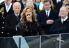 Beyonce sings the National Anthem after President Barack Obama was sworn