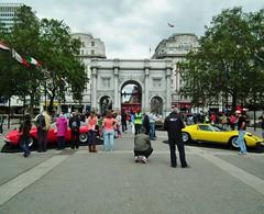 Lamborghini Uncovered London 2012 (litl.qa09Yahoo) Tags: show uk england london yellow 1971 display exhibition 1972 lamborghini sv carshow openair marblearch v12 muria kenjonbro p400sv fujihs10 lamborghiniuncoveredlondon2012