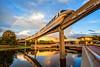 Epic Epcot (Silver1SWA (Ryan Pastorino)) Tags: sunset canon epcot rainbow disney 5d monorail waltdisneyworld walt canon5dmarkii