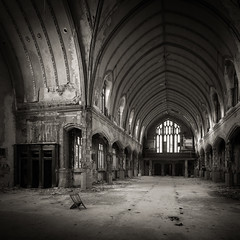 A Threatened Legacy: Epilogue | Study VI (Jeff Gaydash) Tags: blackandwhite church saint square decay detroit agnes legacy threatened