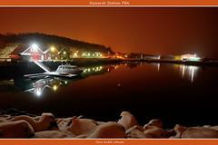 Research Station (Chris_AJ) Tags: longexposure winter light sea orange snow colour station yellow night buildings boat nikon harbour calm research havn natt båt snø hav sjø stille uin d600 fba 1535 fartøy mørkvedbukta forskningsstasjon