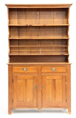 12. 19th Century Pine Pewter Hutch