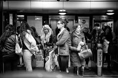 Girls Only (stephen cosh) Tags: life street city england people blackandwhite bw london sepia mono scotland town candid streetphotography rangefinder ayr reallife humancondition blackandwhitephotos 50mmsummilux blackwhitephotos leicam9 stephencosh leicammonochrom leicamm