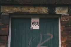 Caution (Prkns) Tags: door sign caution preston guarddogs