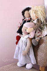 Pretty girls (Fig & Me) Tags: dolls play natural handmade muecas puppen lalka poupes popje ningyou stoffpuppe figandme