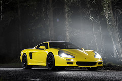 Spectre R45 (AndWhyNot) Tags: light mist sports car yellow fog night forest painting haze fast automotive british gt spectre r45 0857