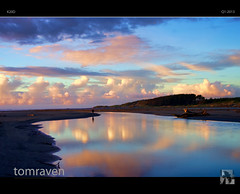 Solitude (tomraven) Tags: sea newzealand sky beach nature silhouette clouds reflections person mirror stream solitude waves peace estuary sound lonliness tomraven aravenimage rememberthatmomentlevel4 rememberthatmomentlevel1 rememberthatmomentlevel2 rememberthatmomentlevel3 rememberthatmomentlevel5 q12013
