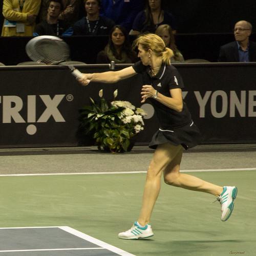 Steffi Graf - Steffi Graf hitting a forehand