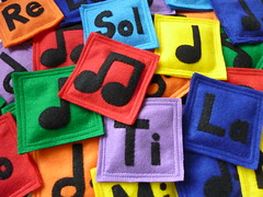 Music bean bags (LittlePicklepotamus) Tags: musician music game bag toy rainbow education play felt bean musical toss rhythm solfege solfeggio littlepicklepotamus