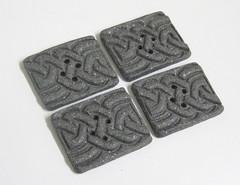 Celtic Granite Buttons (PatsParaphernalia) Tags: handmade buttons polymerclay celticknotwork fauxgranite