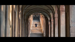 Descents (Orione59) Tags: street people urban laura canon photography bokeh candid streetphotography bologna cinematic sanluca ef135mmf20 5dmarkii orione1959 orionephotographer