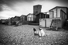 Holiday Industry 3 Mono (G V Fennell) Tags: sea industry beach boats mono factory harbour pebbles rope quay anchor beachhuts whitstable groynes