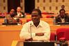 Participant enjoys the crop productivity improvement climate change adaptation session